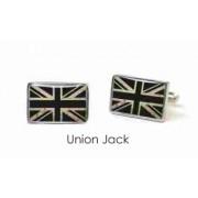 Tyler & Tyler Stencilart White Bricks Cufflinks Union Jack