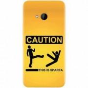 Husa silicon pentru Htc U 11 Life This Is Sparta Funny Illustration