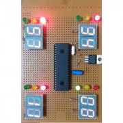 Working model on Hobby Science project of traffic light with time display (without battery)