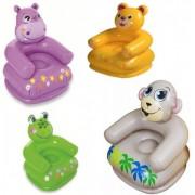 Fotoliu Gonflabil Copii Animal Fun Intex 68556