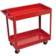 vidaXL Количка за инструменти 100 кг. с 2 рафта, червена
