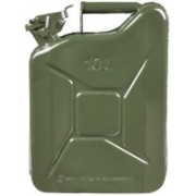 AutoTrends Metal Fuel Jerry Gerry Can Petrol Diesel Liquid Tank Army Green 10L Litre 10000 ml Water Bag(Pack of 1, Multicolor)