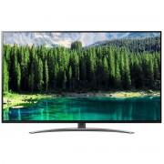 Televizor SUHD LG 65SM8600PLA, 164 cm, Smart TV, 4K, Smart ThinQ, Tehnologie NanoCell, Bluetooth 5.0, Wi-Fi, Dolby Atmos, Clasa energetica A+, Negru/Argintiu