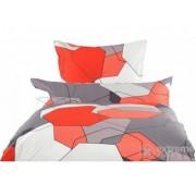 Lenjerie de pat, Young Colours Grafiko, satin de bumbac, garnitură, 2 piese,(21448635)