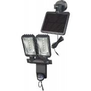 Projecteur LED Solaire DUO Premium SOL SV1205 P2 IP44 avec détecteur de mouvements infrarouge 12xLED 0,5W 480lm Longueur câble 4,75m Couleur Anthracite