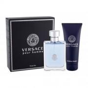 Versace Pour Homme set cadou apa de toaleta 100 ml + gel de dus 100 ml pentru bărbați