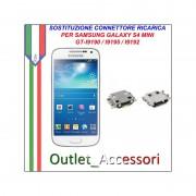 Sostituzione Riparazione Saldatura Porta Connettore Jack Usb Carica Ricarica per Samsung Galaxy S4 MINI