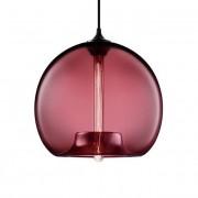 Vintage hanglamp Type C Glazen hanglamp Wine red