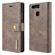 Huawei P9 Dg.Ming 2-in-1 Wallet Case - Coffee