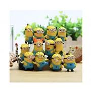 Happy Giftmart Minions 12Pcs/Set Action Figures Despicable Me Minion Cartoon Movie Model Action Figure Toy