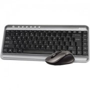 Клавиатура + Мишка Безжичен комплектV-Track PADLESS 7300N, черна,1000 dpi,2.4Gh, USB, нано рисивър - A4-KEY-7300N