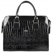 """Dámská luxusní taška na notebook černý lak kroko ST01 15.6"""" GROSSO"""