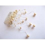 Pieptene mireasa ivory 22801