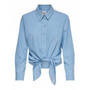 Only Camicia Donna Lecey Stripe, Taglia: 38, Per adulto Donna, Bianco, 15195910 CLOUD D.