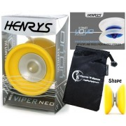 Henrys YoYo's Henrys VIPER NEO Pro YoYo Professional Off String Bearing YoYo +Instructional Booklet of Tricks & Travel Bag! Top Of The Range YoYo! Pro YoYos For Kids and Adults!