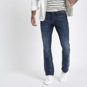 River Island Mens Dark Blue Clint bootcut jeans (36R)