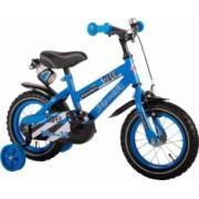 Bicicleta Copii Volare Yipeeh Super 12 inch cu Roti Ajutatoare Blue