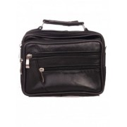 Чанта от черна естествена кожа