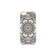 Husky Capa Personalizada para iPhone SE/ 5/ 5S Mandala Flor de Lótus, Preto e Branco