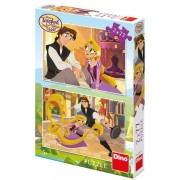 Puzzle Dino - Disney Tangled, 2x77 piese (62906)