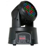 Proiector lumini disco 18 leduri 3W Moving Head Led
