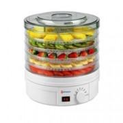 Уред за сушене на плодове и зеленчуци Rohnson R 291, 245 W, 5 плочи, Сушене на плодове, гъби, месо, билки и зеленчуци, бял