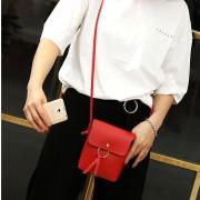 Vrijetijds mode PU leder Slant schoudertas Handbag(Red)