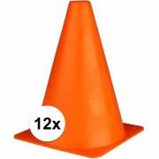 Merkloos Oranje sport pionnen 19 cm 12 stuks - Pionnen
