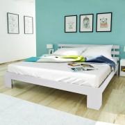 vidaXL Estrutura de cama 160 x 200 cm pinho maciço branco