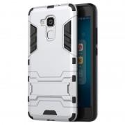 Bolsa Híbrida com Suporte Removível para Huawei Honor 5c, Honor 7 lite - Prateado
