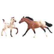 Breyer Stablemates Appaloosa Mare and Leopard Appaloosa Foal Set