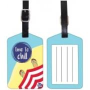 Nutcaseshop Time To Chill Luggage Tag(Multicolor)