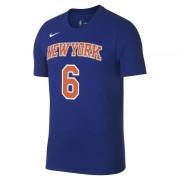 Tee-shirt NBA Kristaps Porzingis New York Knicks Nike Dri-FIT pour Homme - Bleu