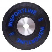 inSPORTline Gumis Súlytárcsa InSPORTline Bumper Plate 15 Kg 10379/szintelen