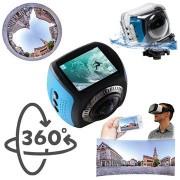 Discovery Adventures Territory 360° HD WiFi Action Camera - Zwart / Blauw