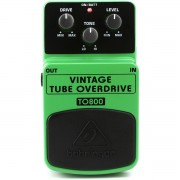 Behringer TO800 Vintage Tube Overdrive Pedal para Guitarras e Performances ao Vivo
