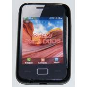 Силиконов гръб ТПУ за Samsung S5222 Star 3 Duos Черен