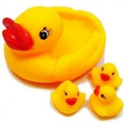 GurujiSales Multi Color Rubber Duckies Bath Toys (Set of 4 Pieces) for Kids.