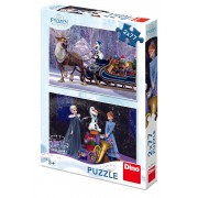 PUZZLE 2 IN 1 - FROZEN (77 PIESE) - DINO TOYS (386136)