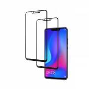 Set 2 folii protectie sticla securizata fullsize pentru Huawei P Smart Plus 2018 / Nova 3i, negru