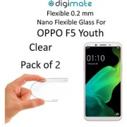 Digimate Nano Clear 0.2 mm Screen Guard Protector Flexible Glass for Oppo F5 Youth (Pack of 2)
