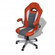 vidaXL Moder tervezésű irodai szék mesterséges bőr narancssárga