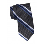 SAVILE ROW CO Silk Keap Stripe Tie BLACK