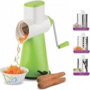 Redical Multi-Functional 3 in 1 Vegetable Fruit Cutter Slicer Cheese Shredder Speedy Rotary Drum Grater Slicer Plastic