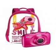 "Nikon Camara nikon w100 rosa + mochila /sumergible/13.3mp/pantalla 2.7""/zoom 3x/vr/wifi/full hd/bt/snapbridge"