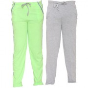 Vimal-Jonney Multicolor Cotton Blended Trackpants For Girls(Pack Of 2)