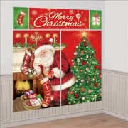 Ornament Sala - Banner-Tapet Mare Mos Craciun, 5 piese, Amscan 670203
