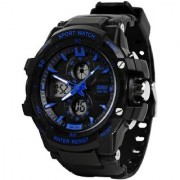 New Skmei Dual Time Blue Analog With Digital Latest Sport Watch For Men Boys