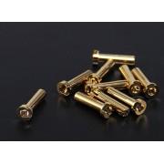 Conectori Gold 4mm Low Profile, set 2 bucati