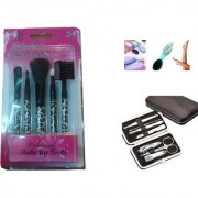 set of 5 makeup brush with Manicure Kit Set - 7 Pcs with 4 in 1 pedicure brush